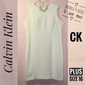 Calvin Klein Plus Size White Dress Business Office
